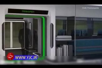 طرحی بسیار جالب از حمل و نقل ریلی در آینده! +فیلم