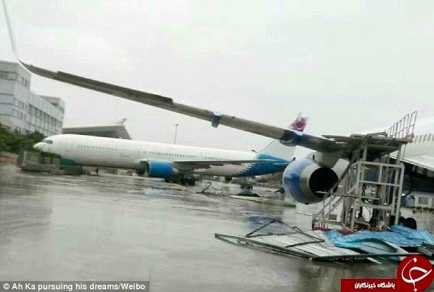 طوفان سهمگین، علت برخورد هواپیما با ساختمان + تصاویر